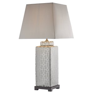 Dar Evelyn Table Lamp Silver/Cream - Base Only