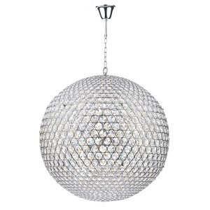 Dar Fiesta 12 Light 90cm Pendant Polished Chrome