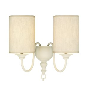 David Hunt Flemish Double Wall Bracket Cream Complete with Shade