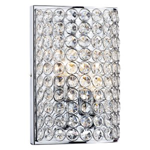 Dar Frost 2 Light Wall Bracket Polished Chrome