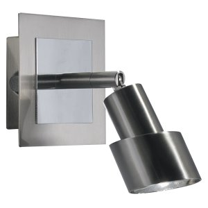 Dar Futura Single Wall Bracket Satin Chrome