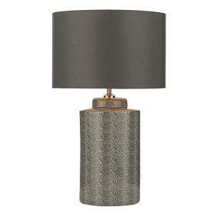 Dar Igor Table Lamp Grey Stingray - Base Only