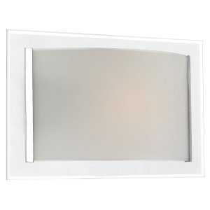 Dar Inverse 1 Light Glass Wall Bracket with Polished Chrome Trim