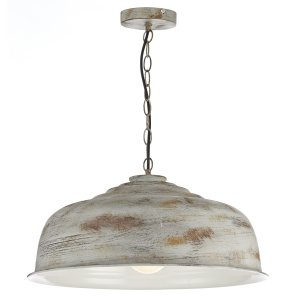 Dar Nara 1 Light Pendant Aged Metal