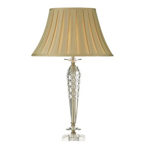 Dar Nell Table Lamp Clear Glass Complete with Shade