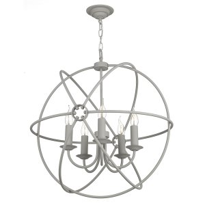David Hunt Orb 5 Light Pendant Ash Grey