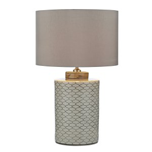 Dar Paxton Table Lamp Cream Brown - Base Only