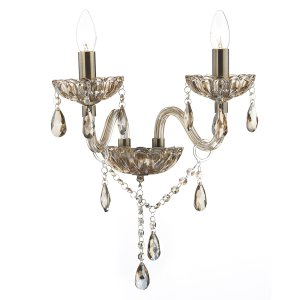 Dar Raphael Double Wall Bracket Champagne Crystal
