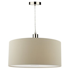 Dar Ronda Easy Fit 40cm Faux Silk Taupe Drum Shade