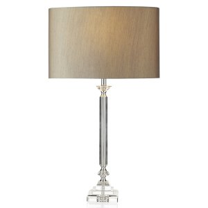 Dar Sahara Table Lamp Clear Complete with Shade