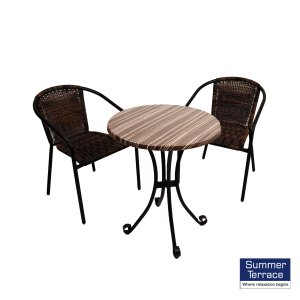 Summer Terrace Kalmar Bistro Table & 2 San Remo Chairs Set