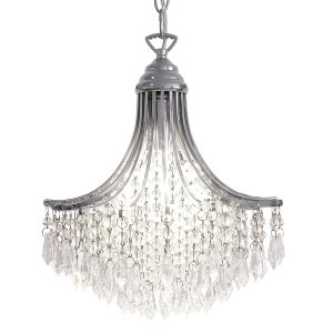 Dar Suri 1 Light Pendant Crystal Polished Chrome