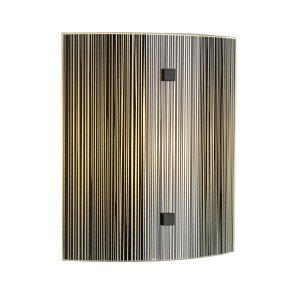David Hunt Swirl Wall Light Square Complete with Black Glass