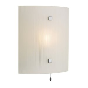 David Hunt Swirl Wall Light Square Complete with White Glass