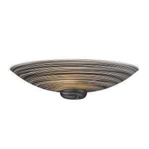David Hunt Swirl Wall Washer Black Complete with Glass