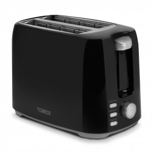 Tower 2 Slice Toaster Black