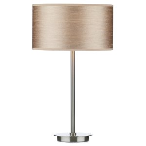 Dar Tuscan Table Lamp Base Only Satin Chrome