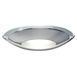Dar Via Wall Light Satin Chrome