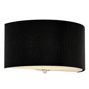 Dar Zaragoza Wall Bracket Black Complete with Shade