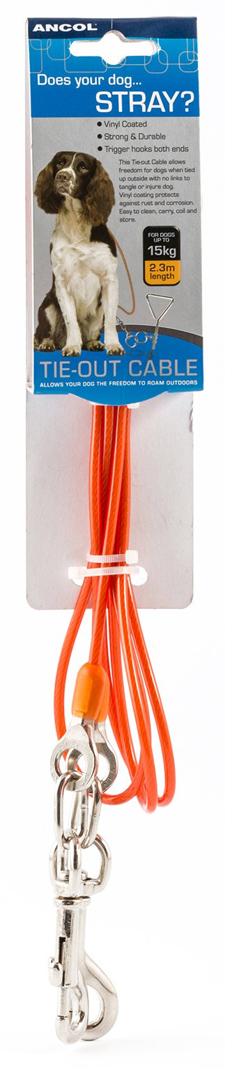 Ancol Dog Tie Out Cable Medium 2 3m At Barnitts Online