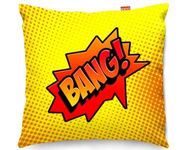 Kico Comic Pop Art 45x45cm Funky Sofa Cushion Bang At