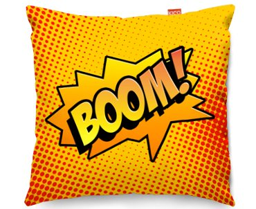 Kico Comic Pop Art 45x45cm Funky Sofa Cushion Boom At