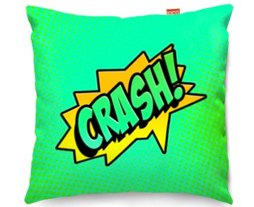 Kico Comic Pop Art 45x45cm Funky Sofa Cushion Crash At