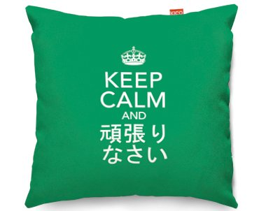 Kico Keep Calm 45x45cm Funky Sofa Cushion -  Carry On Japanese