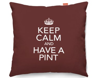 Kico Keep Calm 45x45cm Funky Sofa Cushion -  Have A Pint