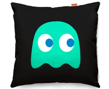 Kico Pac Man 45x45cm Funky Sofa Cushion Retro Blue At
