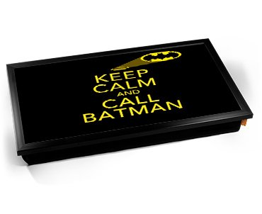Kico Keep Calm Cushion 32 X 41cm Lap Tray Call Batman At