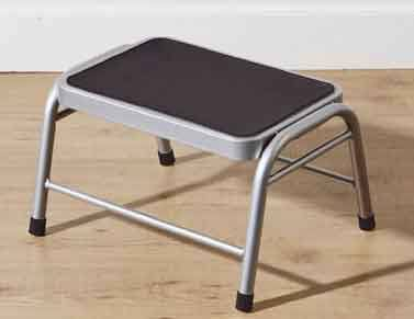 Amazing Premier Silver Metal Step Stool With Black Rubber Mat Ibusinesslaw Wood Chair Design Ideas Ibusinesslaworg