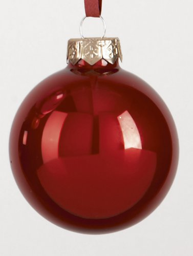 Premier Decorations Grand Christmas Pearlised Bauble 60mm - Cranberry