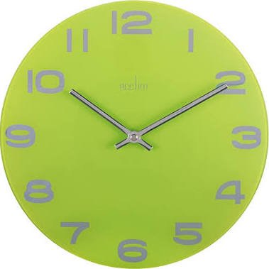 Acctim Mika Wall Clock Lime Green At Barnitts Online Store