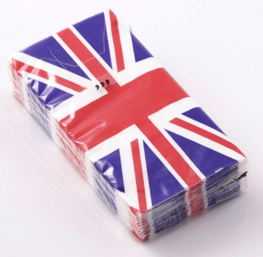 NJ Products Union Jack Tissues (Pack of 10)