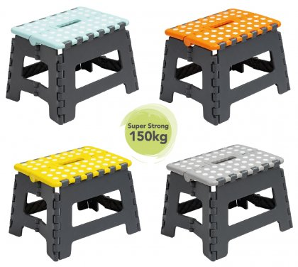 Wham Small Folding Step Stool - Assorted Colours