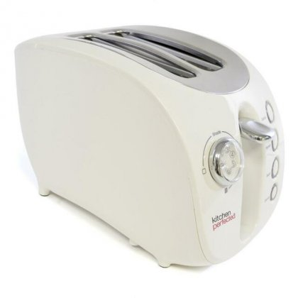 Lloytron Kitchen Perfected 2 Large Slice Wide Slot Toaster - White