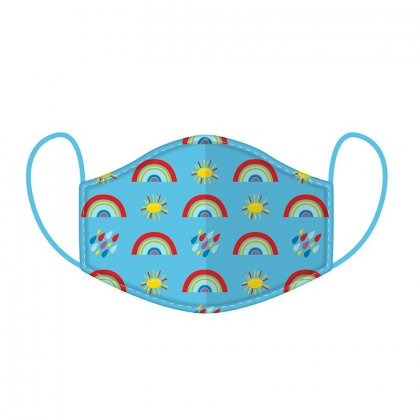 Rainbow Reusable Face Cover Mask -Small