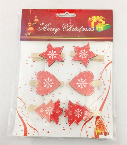 IEP Wooden Christmas Pegs (Pack of 6)