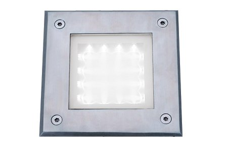 Searchlight Recessed 16 White LED Satin Silver Square Walkover Light