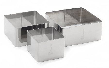 Metaltex Square Cooking Moulds (Set of 3)