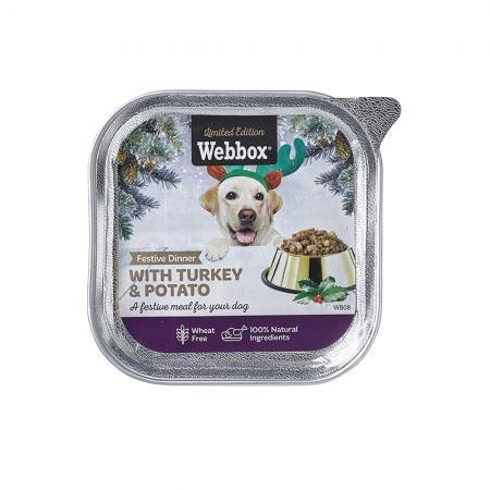 Webbox Festive Dinner with Turkey and Potato 150g