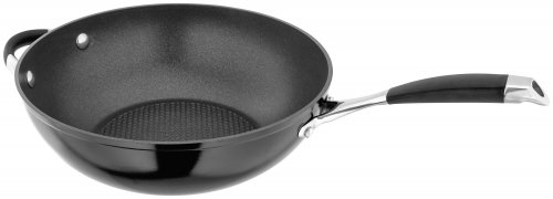 Stellar 3000 Wok with Helper Handle 28cm - Black
