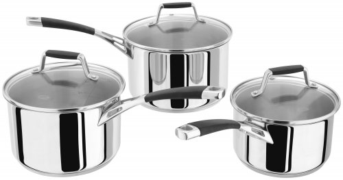 Stellar Induction 3 Piece Saucepan Set