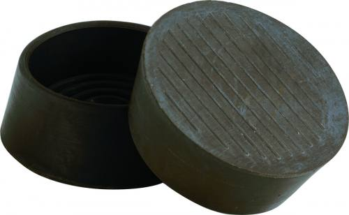 Non Slip 44mm Rubber Castor Cups In Brown At Barnitts