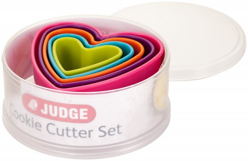 Judge Coloured Cookie Cutters - Hearts (Set of 5)