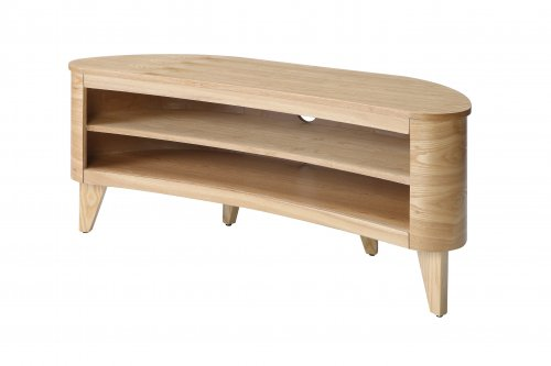 Jual San Francisco Curved TV Stand in Oak