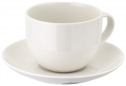 Judge Table Essentials Ivory Porcelain Tea Cup & Saucer 275ml