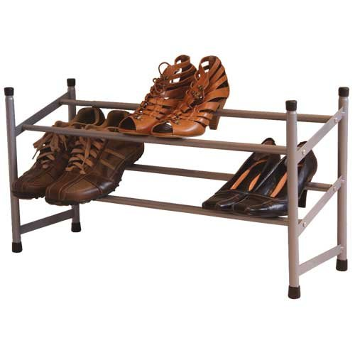 Jvl Extendable 2 Tier Metal Shoe Rack At Barnitts Online
