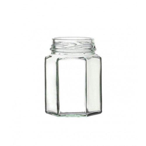 Hexagonal Glass Jar with Twist-off Lid 55ml